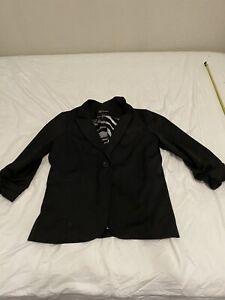 Guess Women's Blazer/ Jacket Sz XL Black Long Sleeve Career or Causal 35