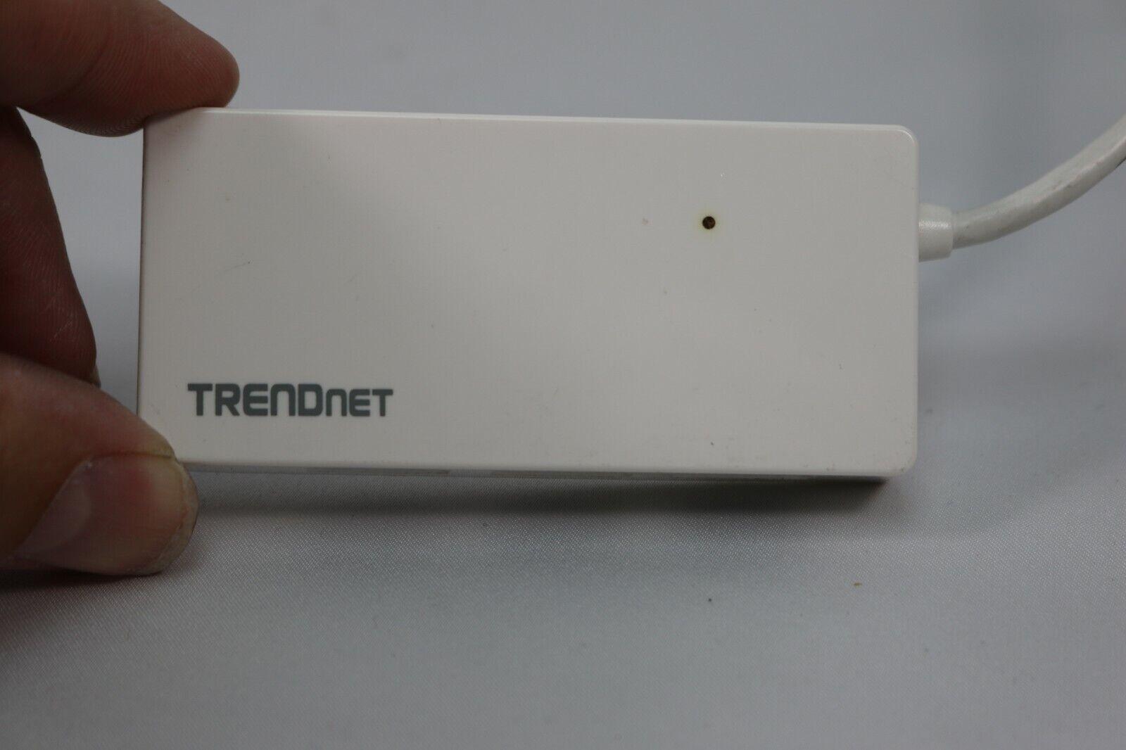 White Trendnet 4-Port USB3.0 Mini Hub