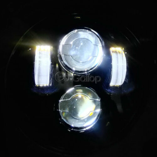 """5 3//4/"""" LED Headlight Round Projector Fit Harley Dyna Super Wide Glide FXDWG"""