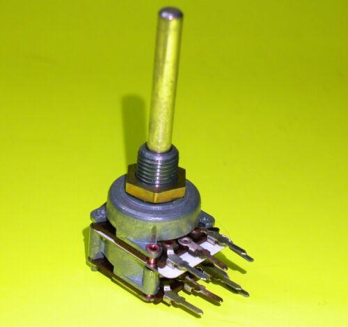 Preh Poti Potentiometer 2x 470k log 4mm Achse Stereo 2x 470K+