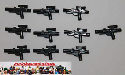 LEGO® 10x Star Wars Waffe Blaster Kurz Zubehör für Figur 58247 Gun NEU