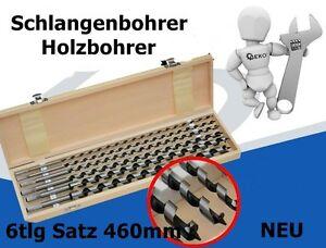 Schlangenbohrer-Holzbohrer-6tlg-Satz-460mm-mit-Holzkastchen-NEU-G38121