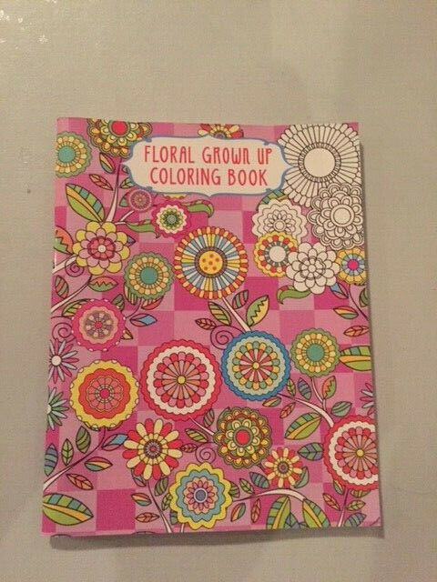 Adult Coloring Books Floral Flower Book 12ct Colored Pencils For Sale  Online EBay