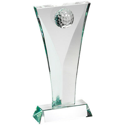 Jade Glass Golf Trophy,Award,3 Sizes,FREE Engraving