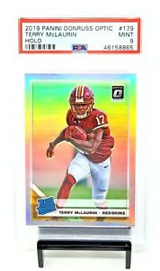 2019-Optic-RC-HOLO-REFRACTOR-Washington-TERRY-McLAURIN-Rookie-Card-PSA-9-Pop-8