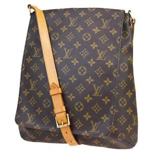 Auth-LOUIS-VUITTON-Musette-Shoulder-Bag-Monogram-Leather-Brown-M51256-71MB734
