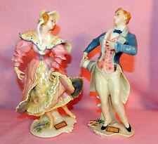 ANTIQUE KARL ENS VOLKSTEDT GERMANY PORCELAIN FIGURINES MAN WOMAN DANCERS COUPLE