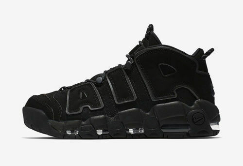 2018 Nike Air More Uptempo size 10.5. Triple Black 3M Reflective 414962-004. Cheap and beautiful fashion