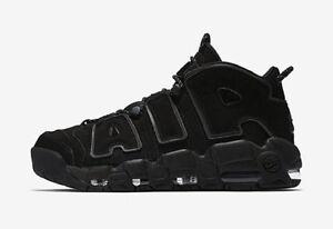 Nike Air More Uptempo Incognito Triple black 3M Reflective Sneaker NIB