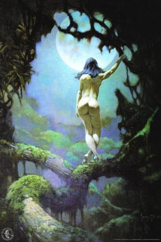 Moon Rapture by Frank Frazetta Art Print Mural Poster 36x54 inch