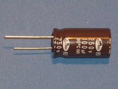 //250 V//105 ° C 1 Pcs. ø16x31,5mm Elko Radial 100µf 100uf