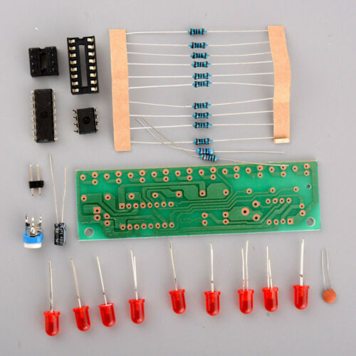 NE555/&CD4017 LED Light Chaser Sequencer Follower Scroller Modul DIY Kit Red AHS