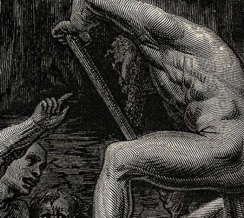 Accosted on the River Styx by Gustave Dore Print Dante/'s Inferno