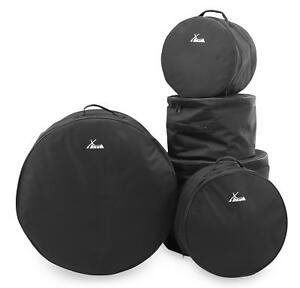 5 teiliges schlagzeug taschen set gigbag case bass snare drum tom soft bag stage ebay. Black Bedroom Furniture Sets. Home Design Ideas