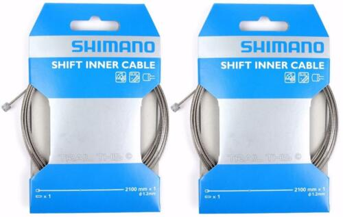 2 Pack of Shimano SUS Stainless Shift Bike Inner Shifter Cables 2100mm 1.2mm