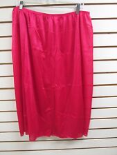 "Ventura Plus Size Nylon Half Slip 30"" Long - 2X RED  #4747A - NEW"