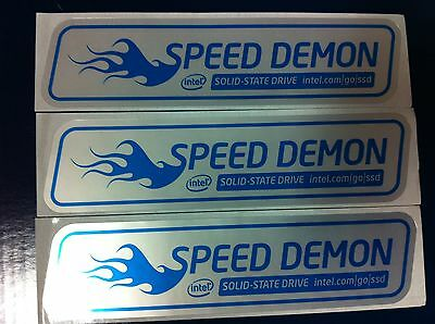 Intel Solid-State Drive SSD Speed Demon Sticker size 33X130mm Lot of 50