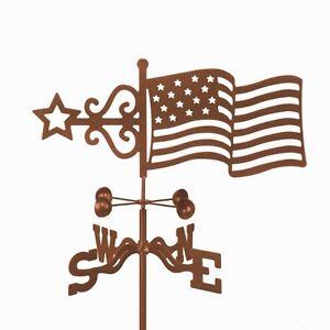 United-States-Flag-Weathervane-U-S-American-Old-Glory-w-choice-of-Mount