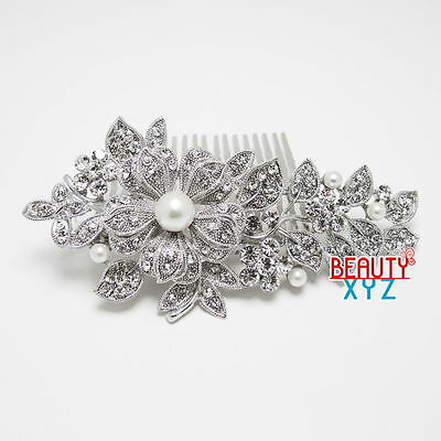 New Fashion French Wedding Hair Accessories Jewelry Wedding Hair Combs pins 3082