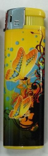 LIGHTER-ELECTRONIC-GAS-REFILLABLE-BUTTERFLY-HIGH-QUALITY-ONE-FREE-POSTAGE