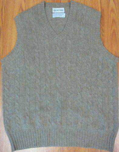 Beige Shetland Cabled Vest