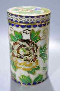 Collection-Cloisonne-Carve-Beauty-Flower-Royal-Family-Ancient-Old-Toothpick-Box