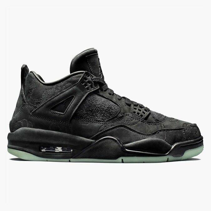 Kaws X Air Jordan 4 retro negro / el negro claro resplandor confortable el / mas popular de zapatos para hombres y mujeres 8612f1