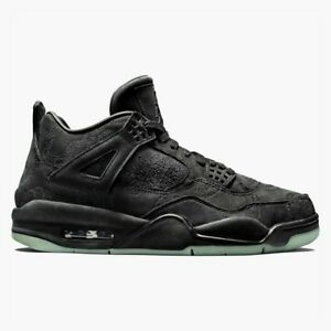 low cost 68a86 ac249 Details about KAWS x Air Jordan 4 Retro Black/Black Clear Glow Size 12 NEW  IV nike