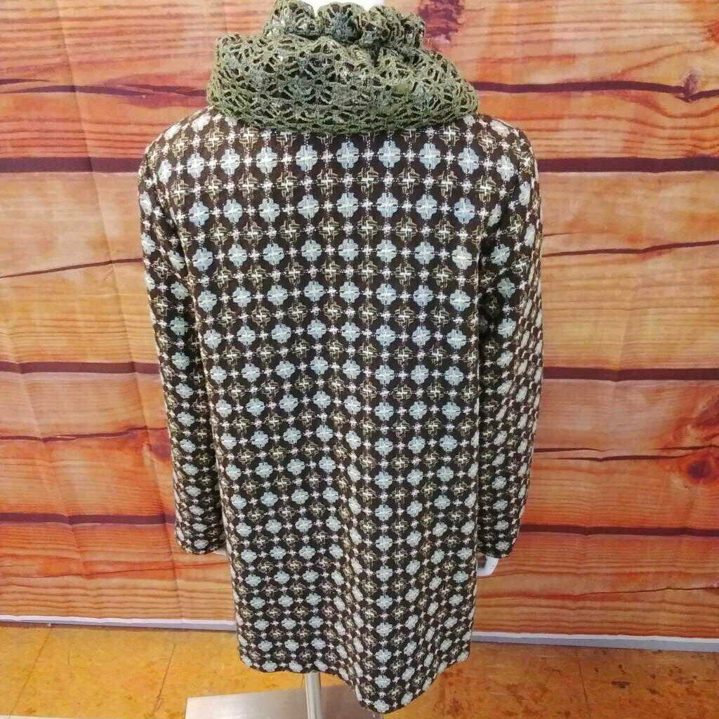 AN REN NEW YORK BROWN MULTI COLOR COAT SIZE LARGE - image 3