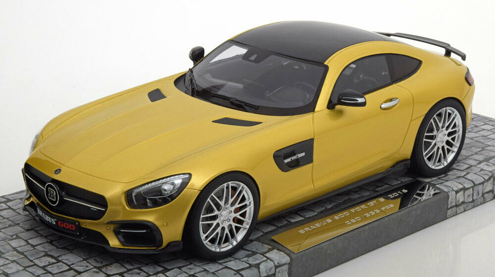 MERCEDES BRABUS 600 FOR GT S 2016 or MINICHAMPS 107032522  1 18 BENZ OR METAL  promotions passionnantes