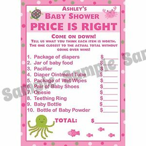 Image Is Loading 24 Baby Shower Price Is Right Game Cards