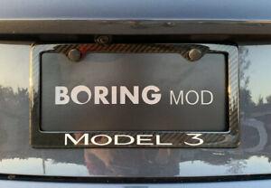 Tesla Model 3 100% Carbon Fiber License Plate Frame ...