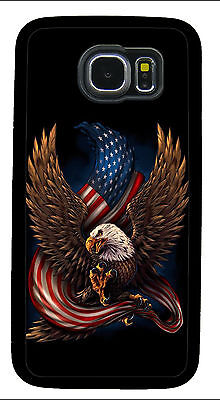 AMERICAN EAGLE FLAG PHONE CASE COVER FOR SAMSUNG NOTE GALAXY S3 S4 S5 S6 S7 S8