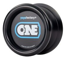 Black ONE Yo Yo From The YoYoFactory + 3 FREE EXTRA NEON STRINGS YELL/ORG/GREEN