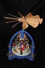 Gruppe Erzgebirge Kerzen Pyramide mit Weihnachtsfiguren 60-70erJ gebraucht 28cm