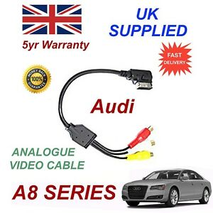 For AUDI A8 4F0051510AA RCA PHONO Analogue Audio Video Cable