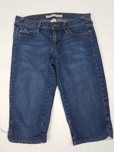 Old-Navy-Womens-Jeans-Size-2-Capris-Low-Rise-Stretch-Medium-Wash-Denim
