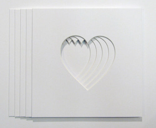 """Paquete De 5 Soportes de foto en forma de corazón 4/""""x4/"""" para adaptarse a cuadros 23 cm X 23 Cm"""