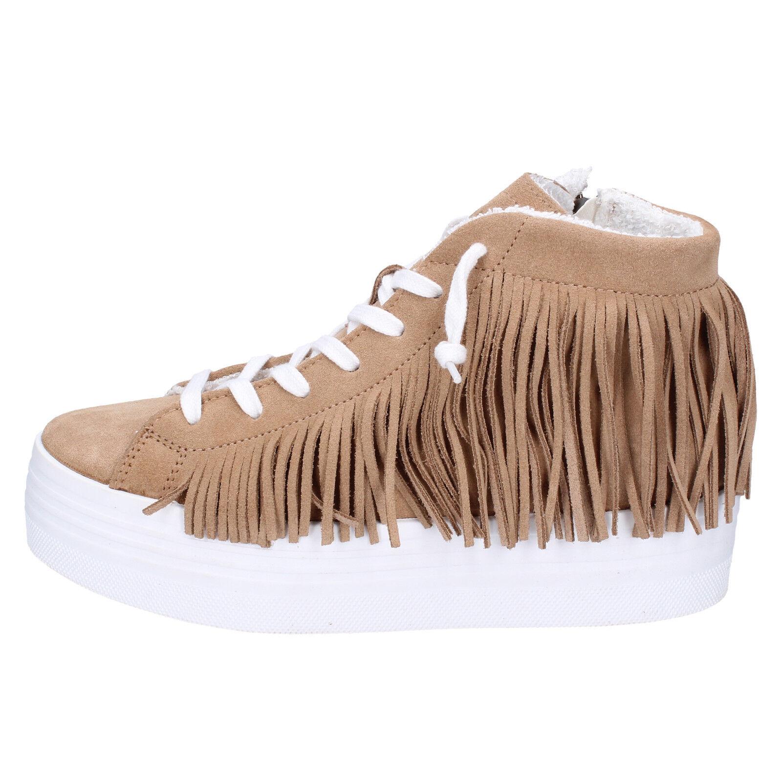 scarpe donna 2 marrone STAR 39 EU sneakers marrone 2 camoscio AP706-39 f2cb78