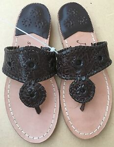 New-Jack-Rogers-Willow-Brown-Thong-Sandals-Flats-Flip-Flops-Size-5M