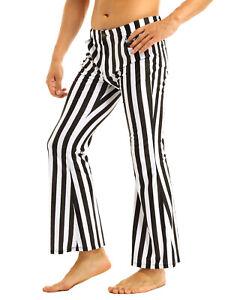 Mens Vintage Plain Striped Trousers Casual Hippie Baggy Pants Slacks Bottoms NEW