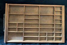 Antique Letterpress Wood Printer Type 2//3 Drawer Tray Shadowbox handle  CA92 10#
