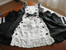 Bodyline Sweet Lolita Maid Style Black and White JSK Dress Size M NWT