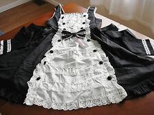 Bodyline Sweet Lolita Maid Style Black and White JSK Dress Size M NWT