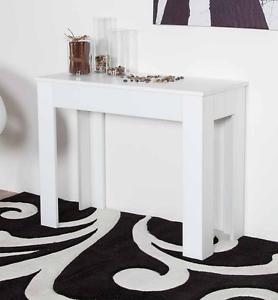 Tavolo Consolle Allungabile Bianco Lucido.Dettagli Su Tavolo Consolle Allungabile Bianco Lucido Cod Ag0095bl 95x42 Aperta 95x302