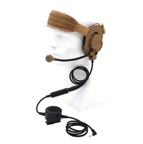 CS HD03 Z Tactical Headset Earpiece with Waterproof PTT Motorola T3 T5 T6 Radios