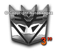 "1 - NEW CHROME Transformers DECEPTICON megatron auto badge emblem (3"" CHROME)"