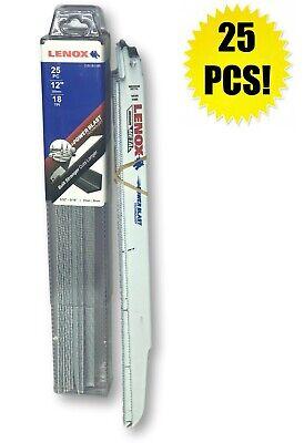"25 PACK 818R LENOX Bi-Metal Reciprocating Saw Blade 8/""L Medium Metal 18TPI"