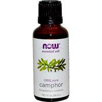 Camphor (100% Pure), 1 Oz - Now Foods Essential Oils