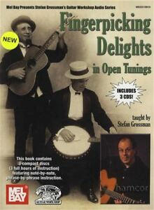 Amical Fingerpicking Délices En Open Tuning Stefan Grossman Tab Music Book With 3cds-afficher Le Titre D'origine Prix De Vente Directe D'Usine